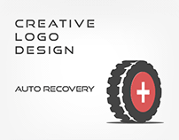 Custom Auto-Recovery Or Recovery Truck logo