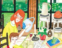 Cultureel Café De Amer illustrations