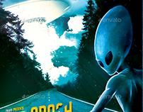 UFO Crash - Aliens Flyer Template