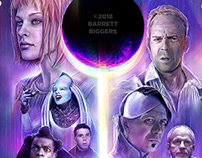 Fifth Element alternative movie poster painting