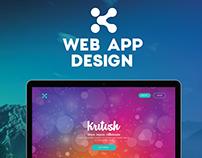 Kritish WebApp Design