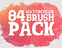 84 Watercolor & Brush Pack