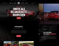 Homepage Alfa Romeo Giulia - Concept