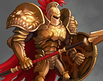 Gladiator. Spine animation.