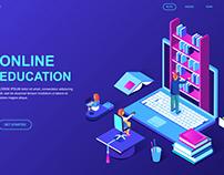modern-flat-design-isometric-concept-online-education