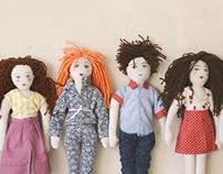 Muñecos de trapo Los Críos - Rescoldo estudio de diseño