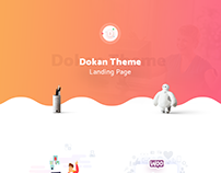 Dokan Theme Landing Page Design