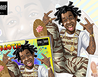 Illustration and Design of Music Rapper Album Cover
