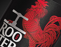 "Design of packaging for cider ""Red Rooster"""