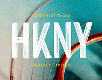Hackney Hand-painted SVG Font (Free download)