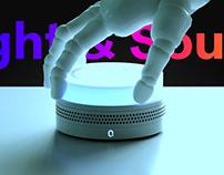 Voice controlled light speaker