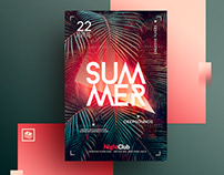 Tropical Summer Psd Flyer