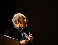 [FOTO] ks. prof. Michał Heller - wykład