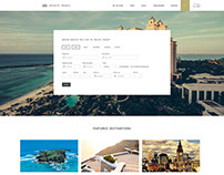Travel Website Template Web Design