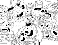 Coloring book for www.kindapanda.com