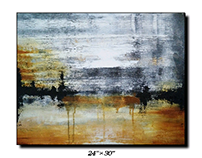 Acrylic on canvas abstract landscape art for SALE