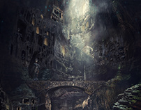 Ancient city in the cave abyss