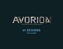 Avorion UI Designs (Fan Made)