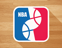 NBA Redesign Logos in Minimalist Version