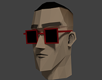 Low Poly Male Character Head (Blender 3D)