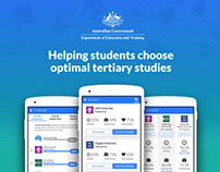 Helping students choose tertiary studies (UX/UI)