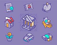 Finanzguru Icon Set