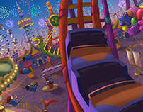 Amusement Park 2D Background