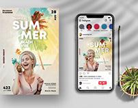 Summer Beach Vibe Flyer (PSD)