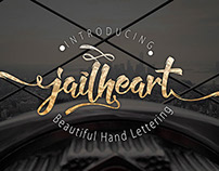 Jailheart hand typeface Lettering + Bonus