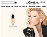 Loreal Intersales site concept 2013