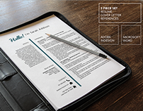 3 Page Resume Template | Microsoft Word & InDesign