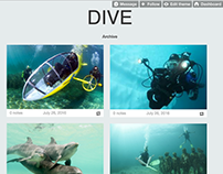 DIVE - Tumblr theme