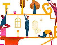 TOGETHER illustration for the swedish magazine
