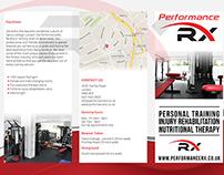 Brochure design for fitness