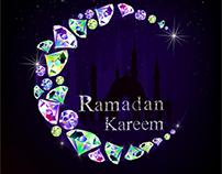 vector diamond made Ramadan Kareem Moon