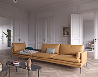 French apartment with italian interior