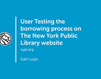 User testing the New York Public Library website