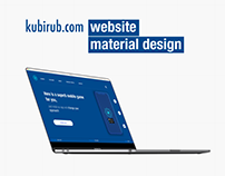 Kubirub Webite Material Design