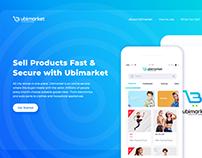 Ubimarket Landing page Design