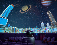 Works / Landscape illustration for planetarium