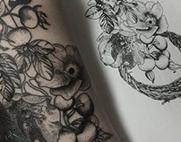 Wild Roses tattoo design.