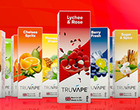 Truvape flavours packaging design