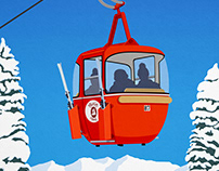 Park City Ski Resort Poster
