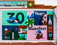 Spotify x Bluesfest Mural
