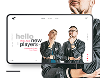 New Players website concept.