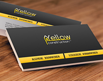 Business card and logo Yellow Construction