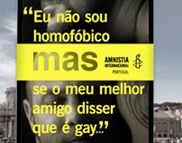 Campanha Amnistia Contra a Discriminação.