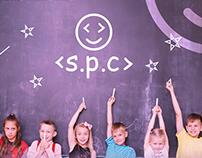 SPC Academy logo Design