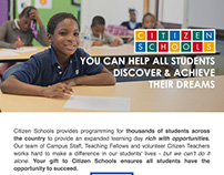 Citizen Schools Annual Appeal Email