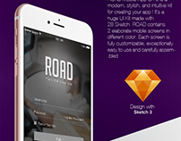 ROAD Mobile App UI Free Template Download